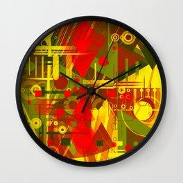 Golden city Wall Clock