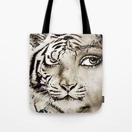 Tiger or woman Tote Bag