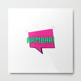 Look Out for the Armbar Brazilian Jiu-Jitsu BJJ Training MMA Metal Print
