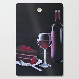 Red wine and Choclate cake Cutting Board