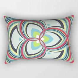 Spiral Rose Pattern A 3/4 Rectangular Pillow