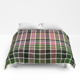 Pink Roses in Anzures 3 Plaid 2 Comforters