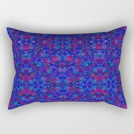 """""""NeonBlue Peace Rose"""" by surrealpete Rectangular Pillow"""