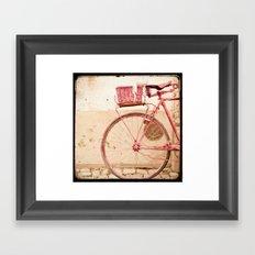 i took my bike and went against the wind... Framed Art Print
