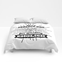 Perfect English Day - BLK Comforters