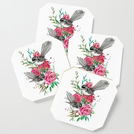 Floral Piwakawakas Coaster