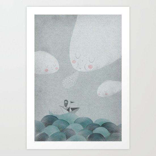 Blowing by the Wind Art Print