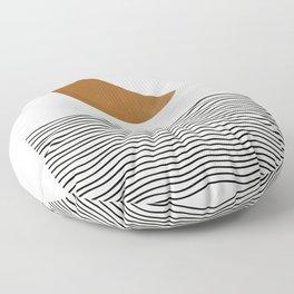 Moon by the ocean Floor Pillow