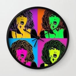skeptic pop art woman Wall Clock