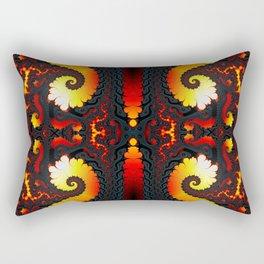 Fractal Art - Fire Glacier I Rectangular Pillow