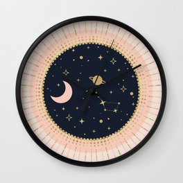 Love in Space Wall Clock