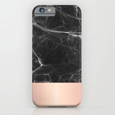 Black Marble and Pink  Slim Case iPhone 6