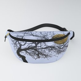 Golden Moon with Cat Fanny Pack