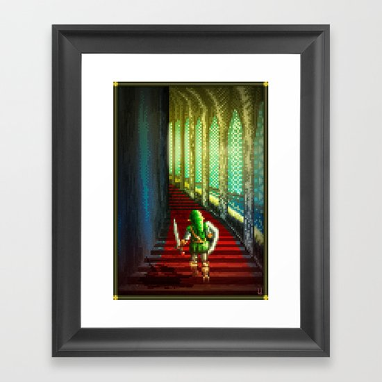 Pixel Art series 18 : Before the fight Framed Art Print