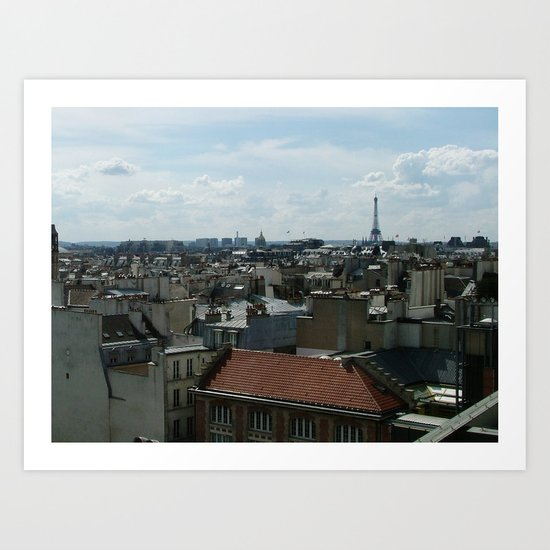 Rooftops of Paris Art Print