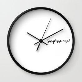 Surprise me! Wall Clock