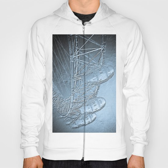 Embossed London Eye Hoody