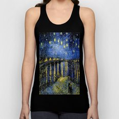 Vincent Van Gogh Starry Night Unisex Tank Top