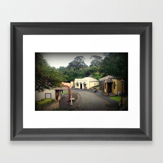 Maritime Village Framed Art Print