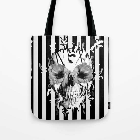 Limbo, Skull with poppy eyes Tote Bag