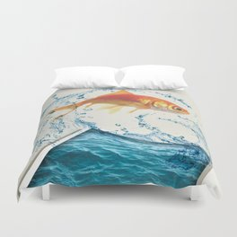 Two Dimensional Freedom Duvet Cover