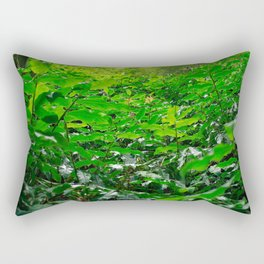 Green foliage Rectangular Pillow