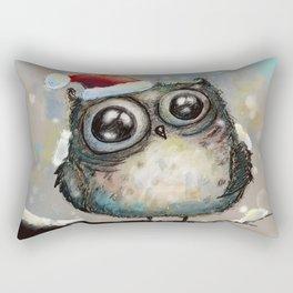 christmas owl Rectangular Pillow