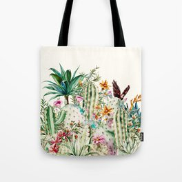 Blooming in the cactus Tote Bag
