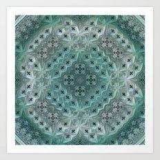 Mint Lace Art Print