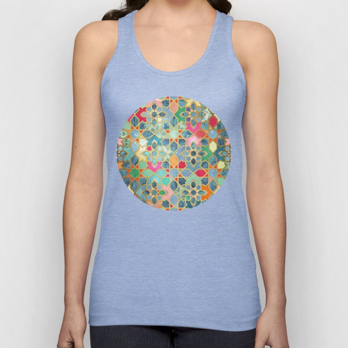 Gilt & Glory - Colorful Moroccan Mosaic Unisex Tank Top