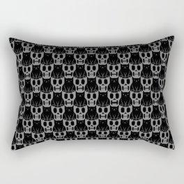 Skulls & Cats Dark Rectangular Pillow