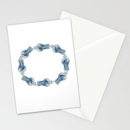 Christmas Blue and White Ginger Jar  Stationery Cards