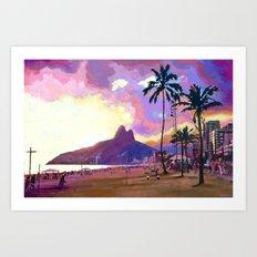 Por do Sol Art Print