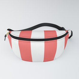 Large Bean Red and White Vertical Cabana Tent Stripes Fanny Pack