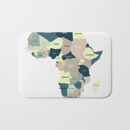 Map Of Africa Badematte