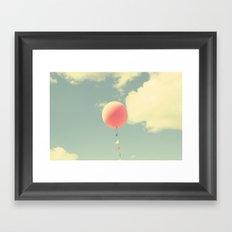 pink balloon Framed Art Print