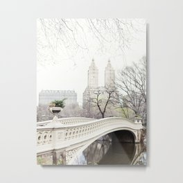Bow Bridge in Central Park - Travel Photography, New York Metal Print