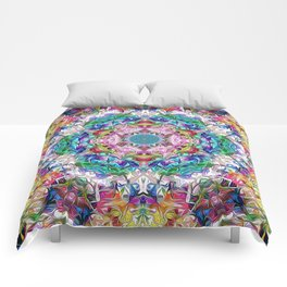 Abstract Balance of Colors Comforters