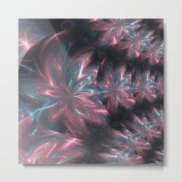 Abstract Flowers Symmetric Arrangement Metal Print