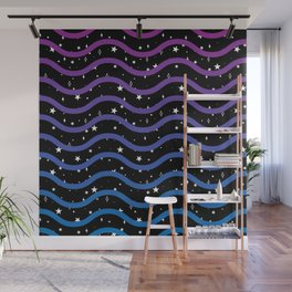 Space Waves Wall Mural