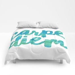 Carpe Diem Watercolor Comforters