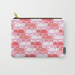 Turtle Pattern (Pink/White) Carry-All Pouch
