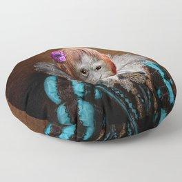 Portrait of Lady Oona Orangutan Floor Pillow