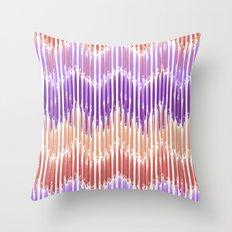 Sunset Stripes Throw Pillow