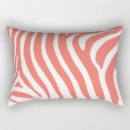 Animal Print in Living Coral Rectangular Pillow