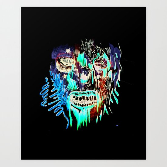 Face Illustration 3 Art Print
