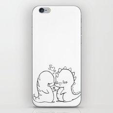 Dino Love Black and White iPhone & iPod Skin