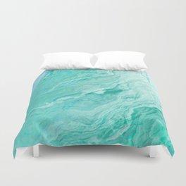 Azure marble Duvet Cover