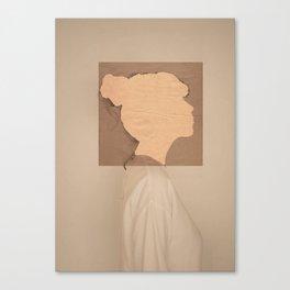 Paper portrait Canvas Print