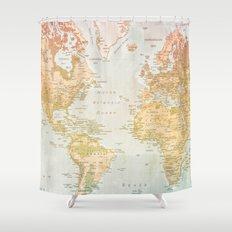 Pastel World Shower Curtain